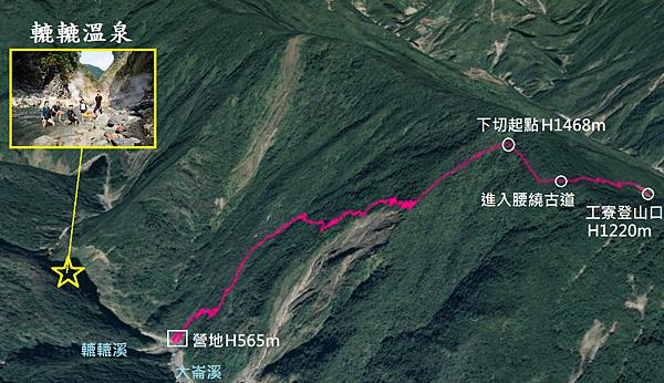 轆鹿野溪溫泉GPS地圖
