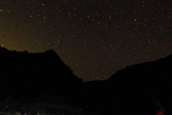 大崙溪河床營地仰望深夜星空