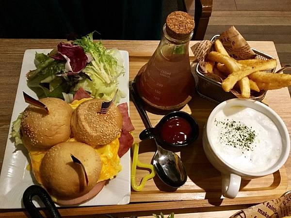 小漢堡三兄弟Brunch升級套餐($160+50)