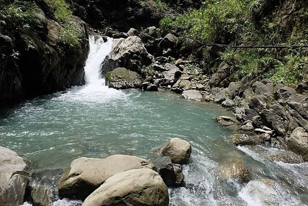 河床瀑布與水潭