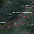 雲嘉五連峰縱走O型GPS地圖