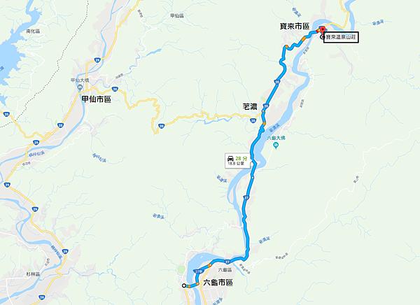 「六龜-寶來」旅行Map