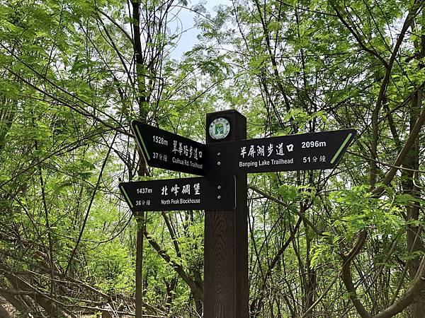 瞭望台續往「北峰碉堡」指標