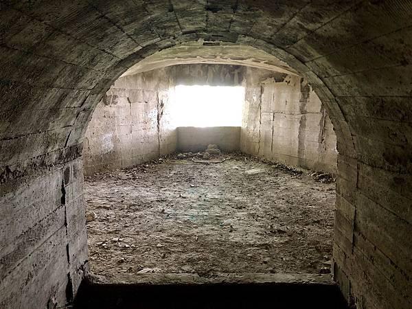 進入北砲台下層-南砲堡坑道