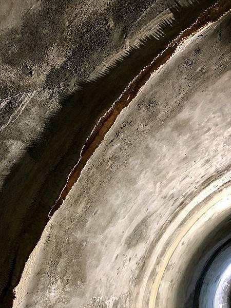 微鐘乳石形成一整排鋸齒狀結晶