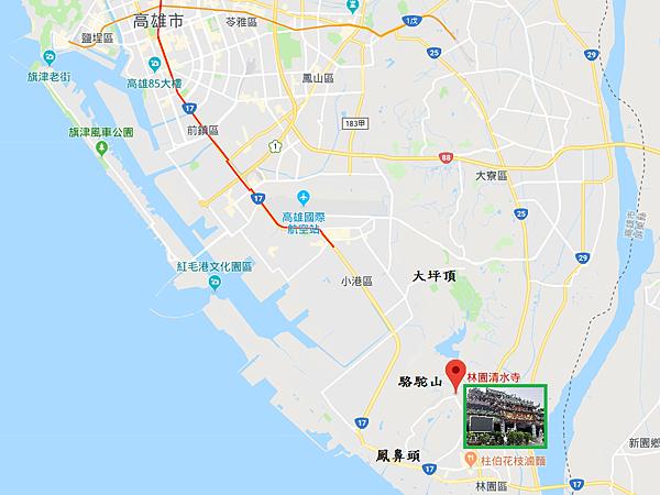 高雄市林園區清水寺位置Map