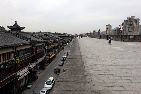 西安城牆平行城內街道