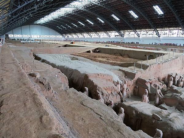 兵馬俑一號坑尚未發掘區域