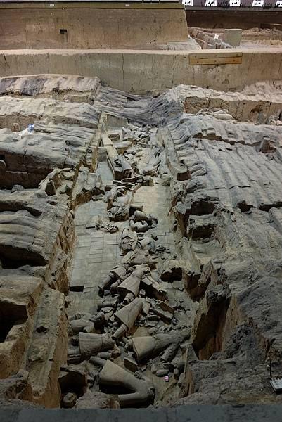兵馬俑二號坑挖掘現場