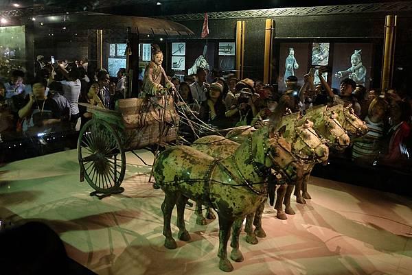 秦始皇帝陵文物陳列館展示青銅馬車