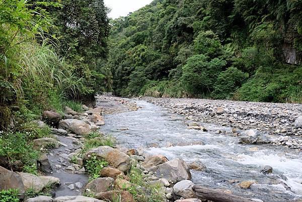 河邊小徑上溯方向