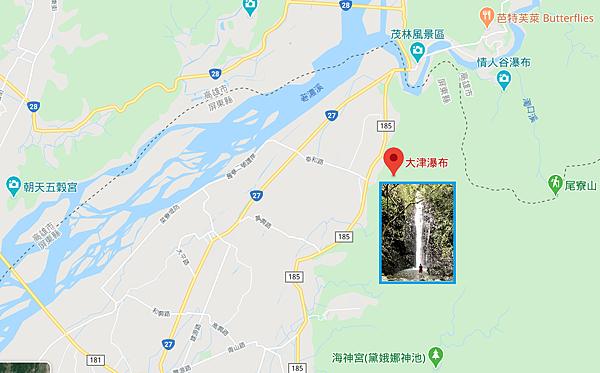 大津瀑布Map