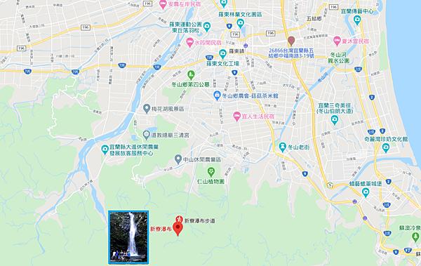新寮瀑布Map
