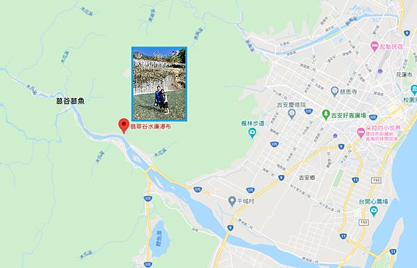 翡翠谷水簾瀑布Map