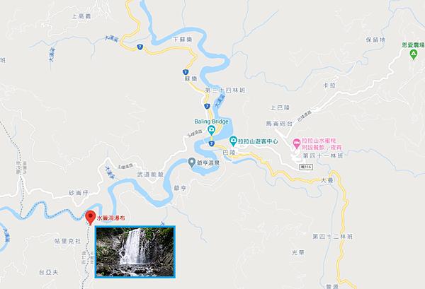 水簾洞瀑布Map
