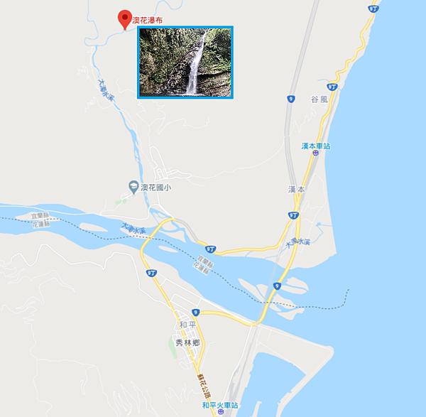 澳花瀑布Map