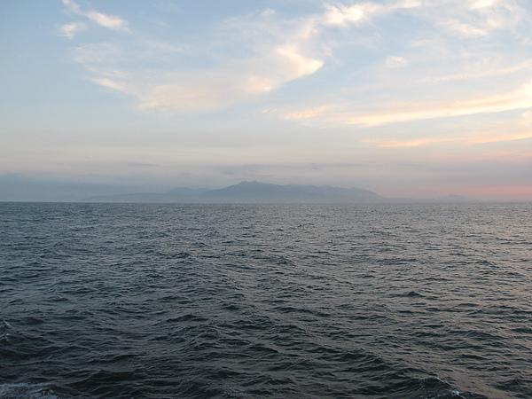 看到台灣本島了