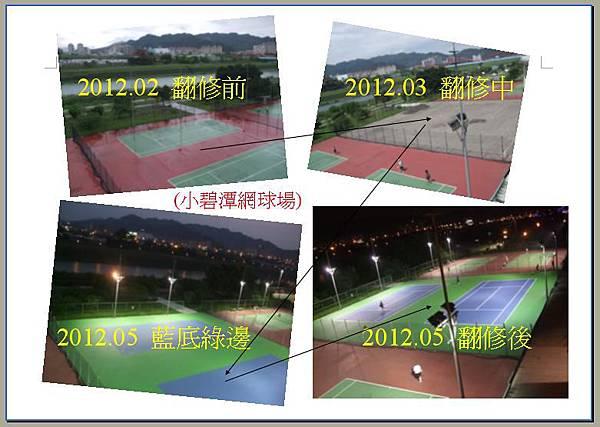 小碧潭網球場翻修
