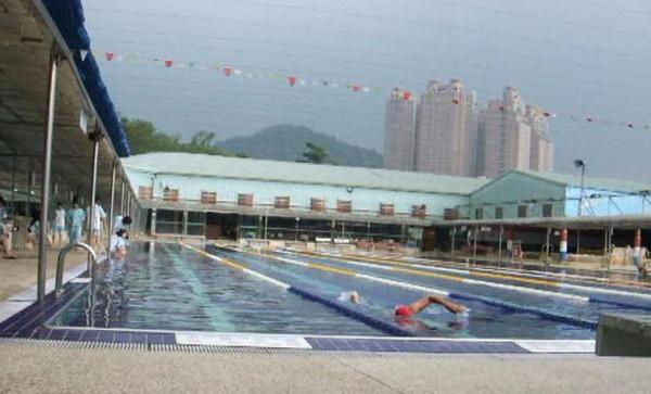 大新店游泳池練習中
