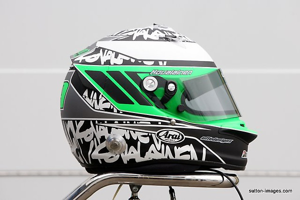 The helmet of Heikki Kovalainen (FIN) Lotus.jpg