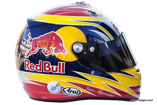 The helmet of Jaime Alguersuari (ESP) Scuderia Toro Rosso.jpg