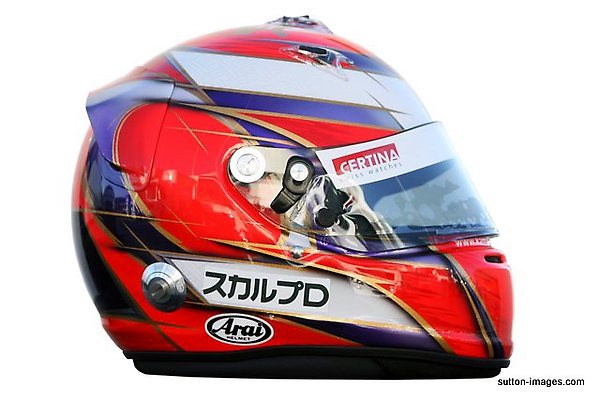 The helmet of Kamui Kobayashi (JPN) BMW Sauber.jpg
