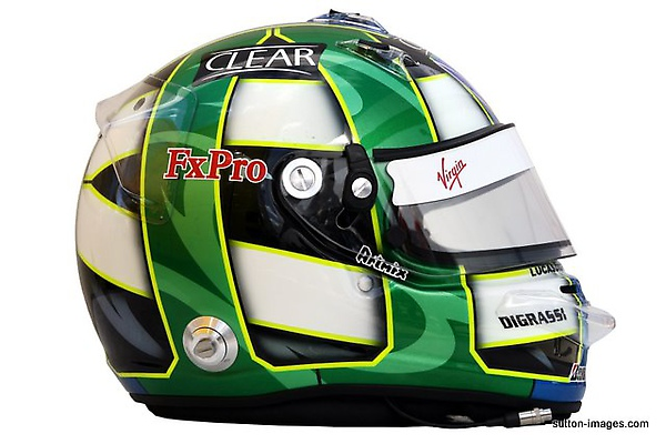 The helmet of Lucas di Grassi (BRA) Virgin Racing.jpg