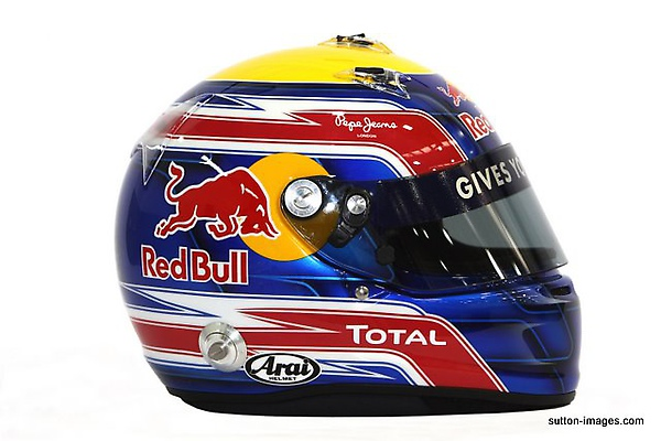 The helmet of Mark Webber (AUS) Red Bull Racing.jpg