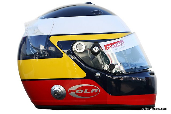 The helmet of Pedro De La Rosa (ESP) BMW Sauber.jpg