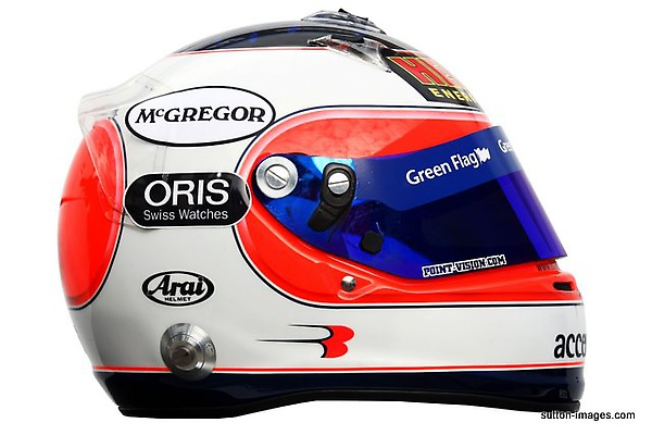 The helmet of Rubens Barrichello (BRA) Williams..jpg