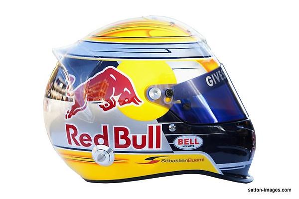 The helmet of Sebastien Buemi (SUI) Scuderia Toro Rosso.jpg
