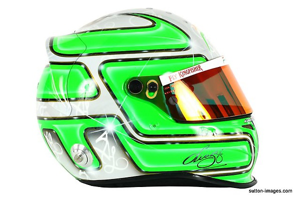 The helmet of Vitantonio Liuzzi (ITA) Force India F1.jpg