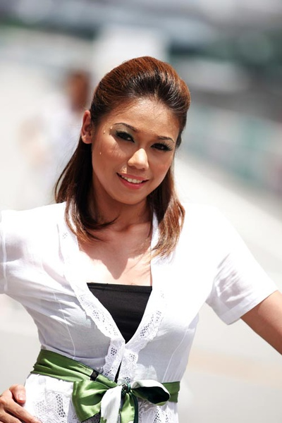 A Malaysian beauty on grand prix Sunday.jpg