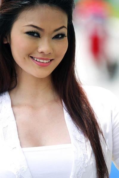 Grid girl on grand prix Sunday, Malaysian Grand Prix,.jpg