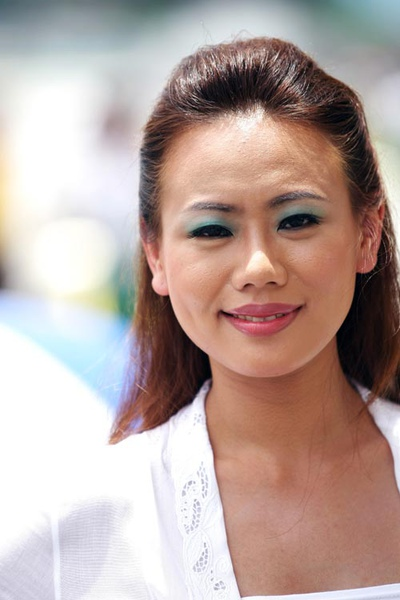 Malaysian grid girl at an F1 support race,.jpg