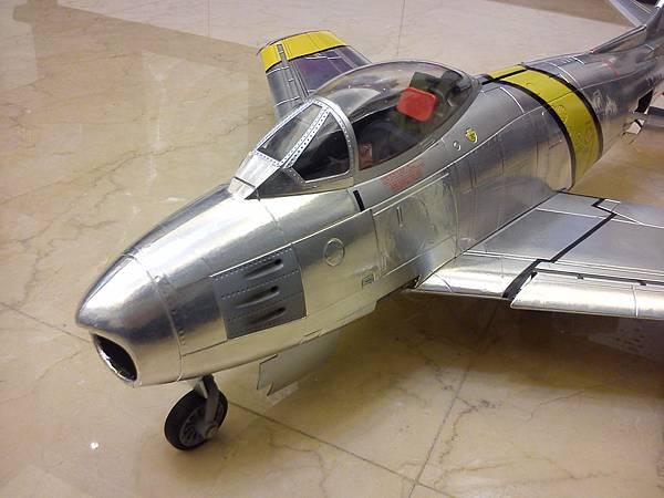1/18 F-86 aluminum foiled