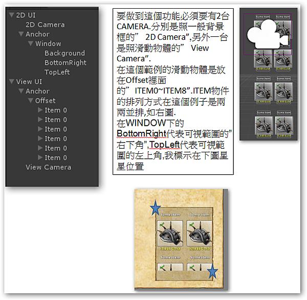 NGUI3 6 8 Scroll View(Camera)上下滑動研究@ unity 心得分享