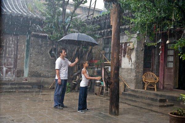 Mr. Han下雨天仍叫Dre練習