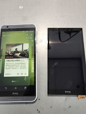 HTC 820液晶壓傷