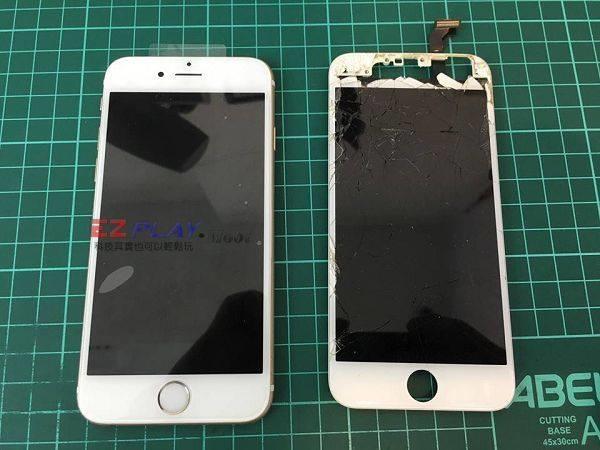 iphone6螢幕破裂慘重