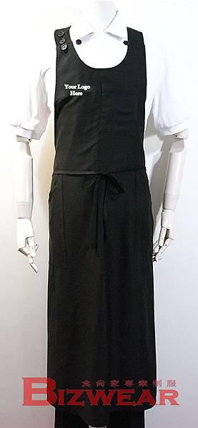 U領全身圍裙黑色