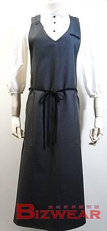 V領中性全身圍裙