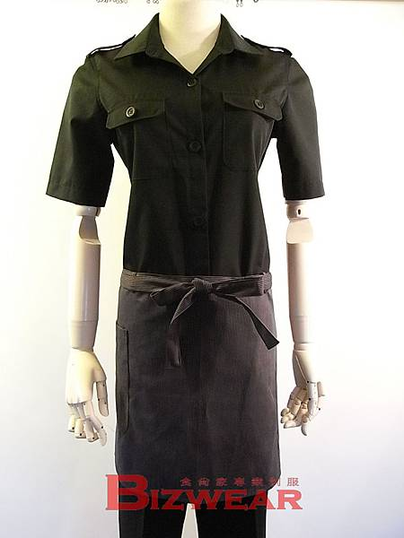 中性個性雙口袋襯衫 (1)