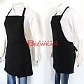 黑雙層全身圍裙2