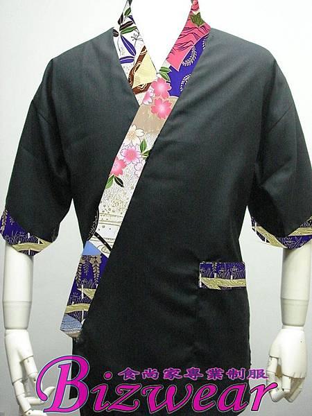 黑底紫大花領