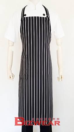黑白條紋全身圍裙