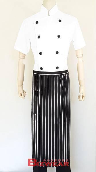 黑白條紋半身圍裙