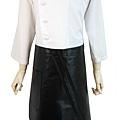 黑色半身短式防水圍裙1