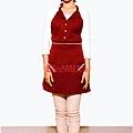 削肩暗紅色洋裝圍裙.jpg