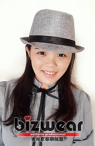 麻灰紳士帽 (2)